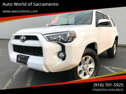2016 Toyota 4Runner for sale at Auto World of Sacramento Stockton Blvd in Sacramento CA