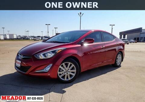 2015 Hyundai Elantra for sale at Meador Dodge Chrysler Jeep RAM in Fort Worth TX