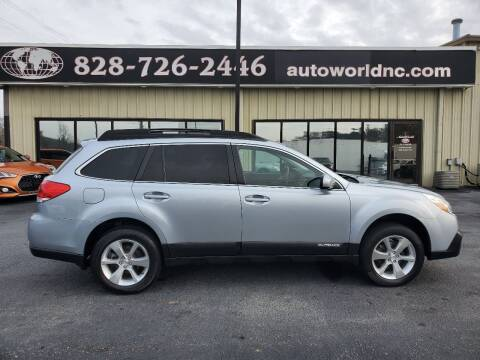 2013 Subaru Outback for sale at AutoWorld of Lenoir in Lenoir NC
