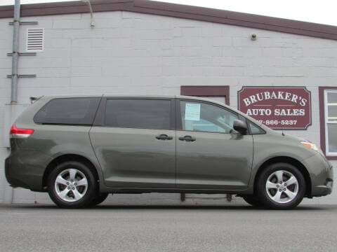2012 Toyota Sienna for sale at Brubakers Auto Sales in Myerstown PA