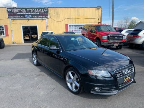 2012 Audi A4 for sale at Virginia Auto Mall in Woodford VA