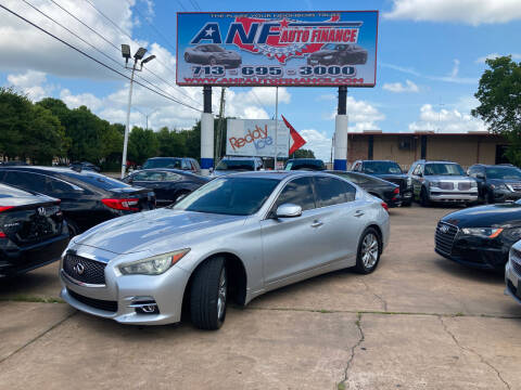 2014 Infiniti Q50 for sale at ANF AUTO FINANCE in Houston TX