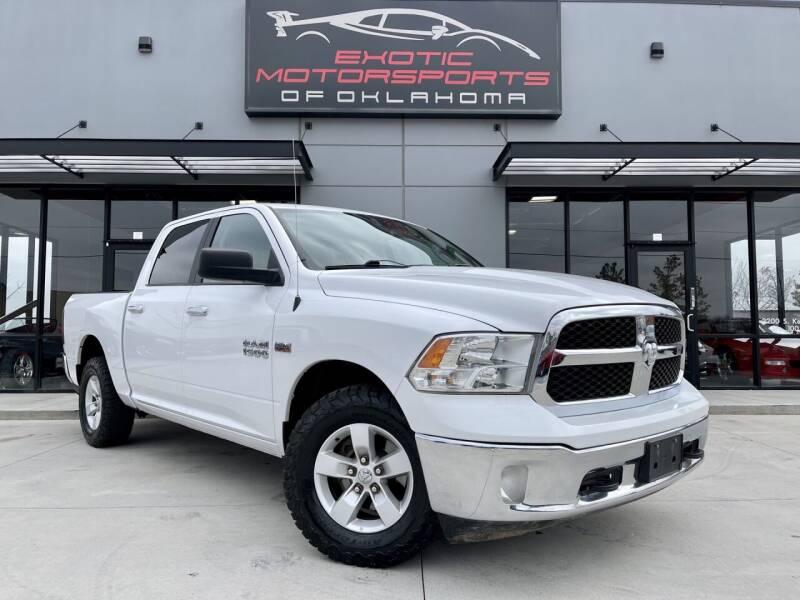 2016 RAM Ram Pickup 1500 for sale at Exotic Motorsports of Oklahoma in Edmond OK