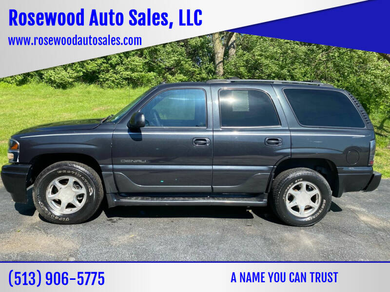 2004 GMC Yukon for sale at Rosewood Auto Sales, LLC in Hamilton OH