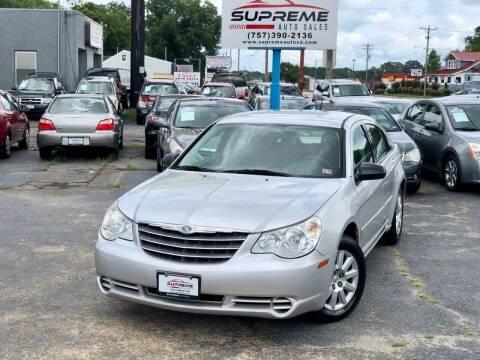 2010 Chrysler Sebring for sale at Supreme Auto Sales in Chesapeake VA