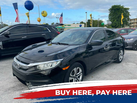 2016 Honda Civic for sale at D & P OF MIAMI CORP in Miami FL