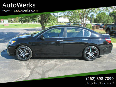 2017 Honda Accord for sale at AutoWerks in Sturtevant WI