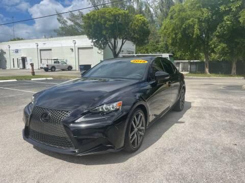 2015 Lexus IS 350 for sale at Best Price Car Dealer in Hallandale Beach FL