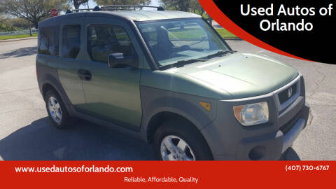 2003 Honda Element for sale at Used Autos of Orlando in Orlando FL