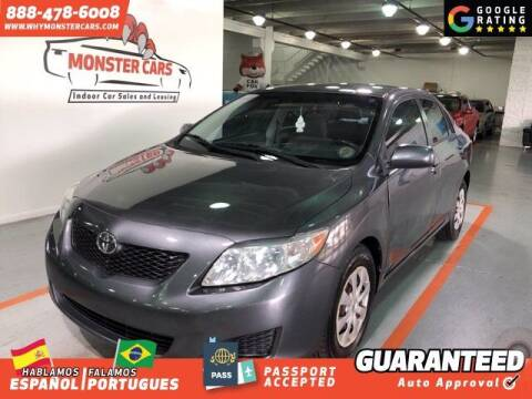 2009 Toyota Corolla for sale at Monster Cars in Pompano Beach FL