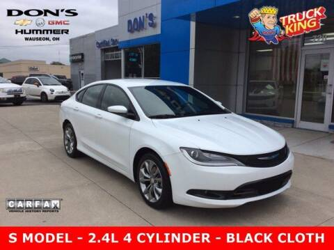 2015 Chrysler 200 for sale at DON'S CHEVY, BUICK-GMC & CADILLAC in Wauseon OH