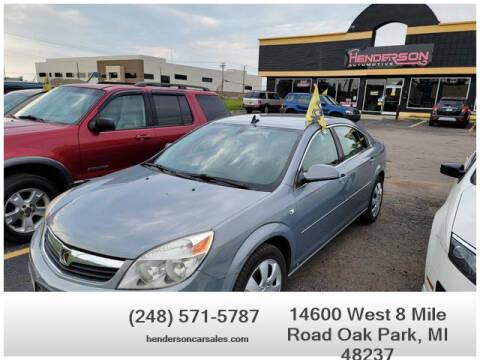 2008 Saturn Aura for sale at Henderson Automotive, LLC in Oak Park MI