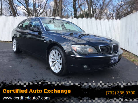2008 BMW 7 Series for sale at Certified Auto Exchange in Keyport NJ