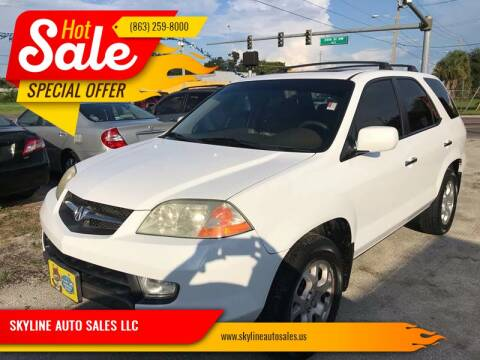 2002 Acura MDX for sale at SKYLINE AUTO SALES LLC in Winter Haven FL