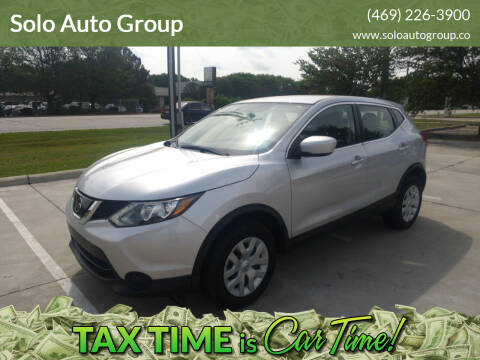 2019 Nissan Rogue Sport for sale at Solo Auto Group in Mckinney TX