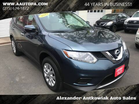 2014 Nissan Rogue for sale at Alexander Antkowiak Auto Sales in Hatboro PA