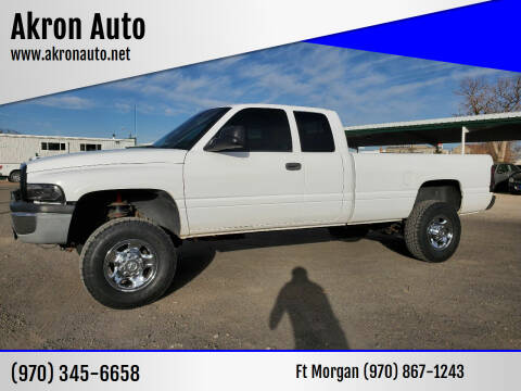 2000 Dodge Ram Pickup 2500 for sale at Akron Auto - Fort Morgan in Fort Morgan CO