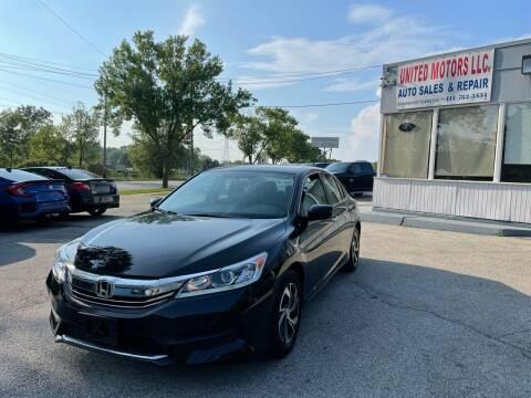 2017 Honda Accord for sale at United Motors LLC in Saint Francis WI