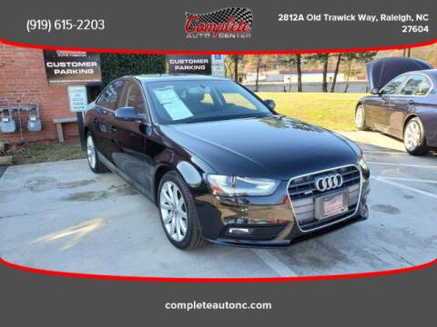 2013 Audi A4 for sale at Complete Auto Center , Inc in Raleigh NC