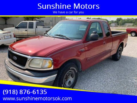 1999 Ford F-150 for sale at Sunshine Motors in Bartlesville OK