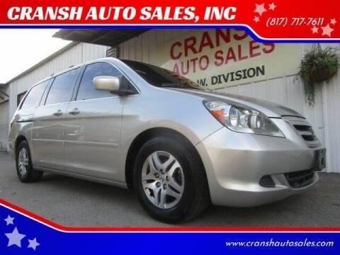 2005 Honda Odyssey for sale at CRANSH AUTO SALES, INC in Arlington TX