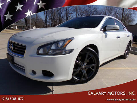 2013 Nissan Maxima for sale at Calvary Motors, Inc. in Bixby OK