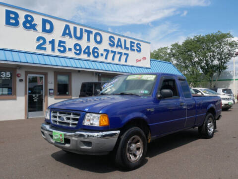 2003 Ford Ranger for sale at B & D Auto Sales Inc. in Fairless Hills PA
