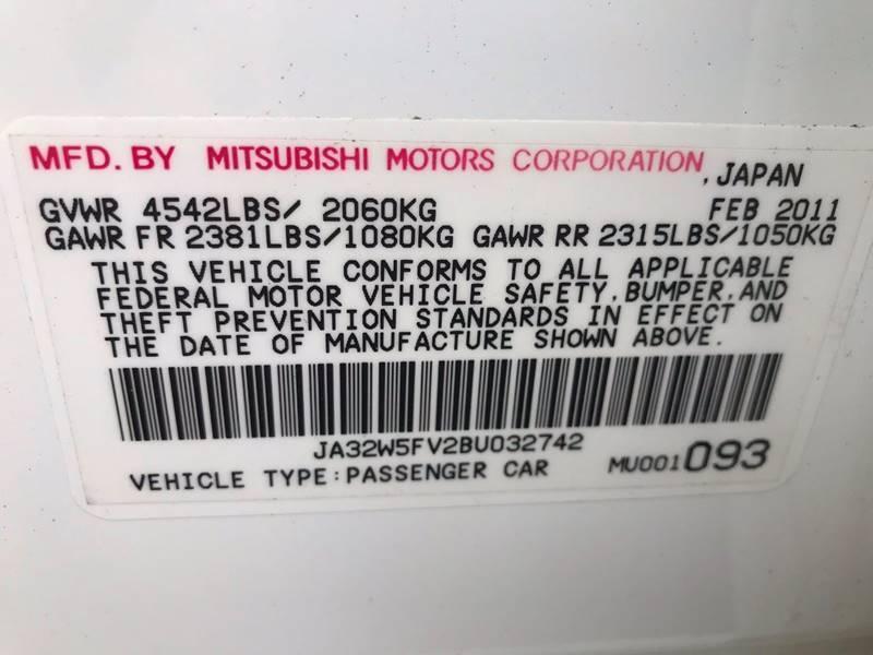 2011 Mitsubishi Lancer Evolution AWD MR 4dr Sedan - Newark NJ