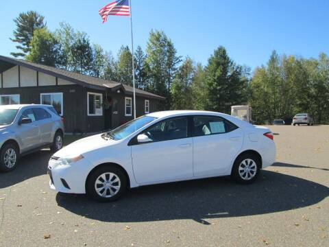 2014 Toyota Corolla for sale at The AUTOHAUS LLC in Tomahawk WI