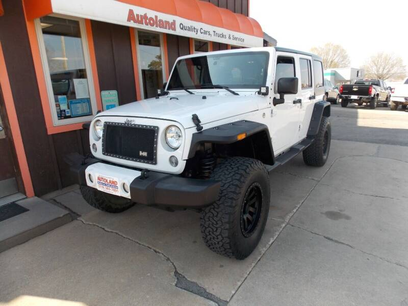 2016 Jeep Wrangler Unlimited for sale at Autoland in Cedar Rapids IA