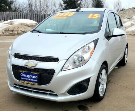 2015 Chevrolet Spark for sale at Chicagoland Internet Auto - 410 N Vine St New Lenox IL, 60451 in New Lenox IL