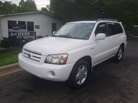2005 Toyota Highlander for sale at TR MOTORS in Gastonia NC