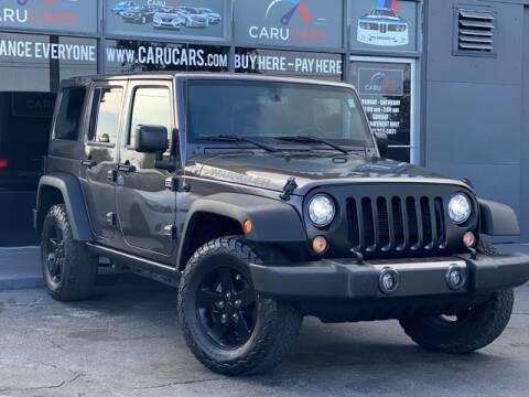2017 Jeep Wrangler Unlimited for sale at CARUCARS LLC in Miami FL