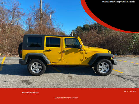 2008 Jeep Wrangler Unlimited for sale at International Horsepower Auto Sales in Warwick RI