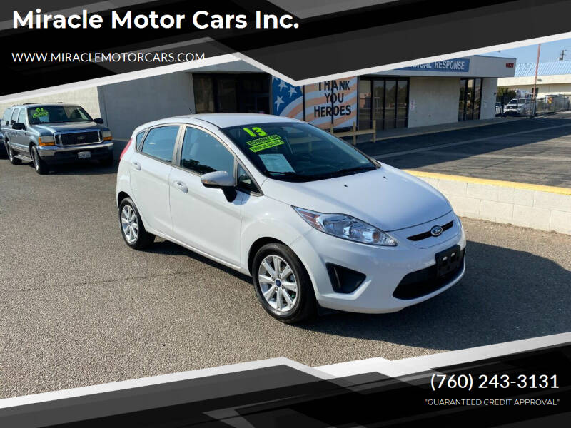 2013 Ford Fiesta for sale at Miracle Motor Cars Inc. in Victorville CA