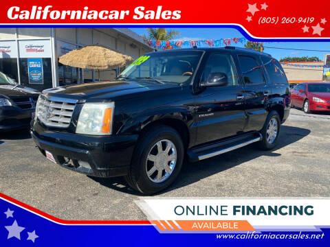 2004 Cadillac Escalade for sale at Californiacar Sales in Santa Maria CA