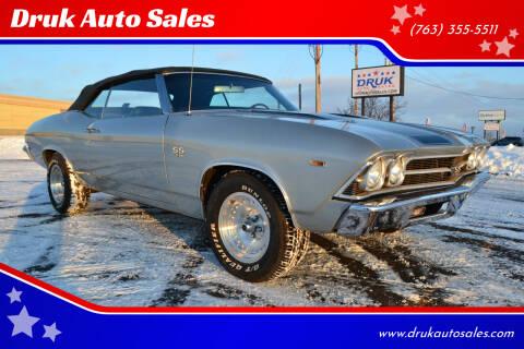 1969 Chevrolet Chevelle Malibu for sale at Druk Auto Sales in Ramsey MN