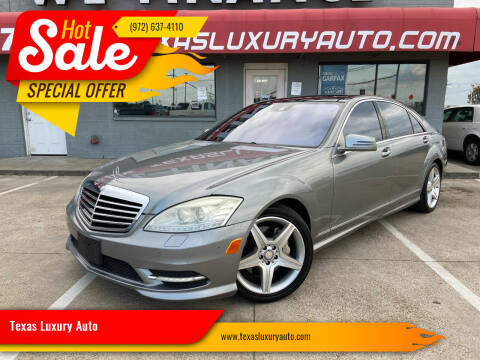 2010 Mercedes-Benz S-Class for sale at Texas Luxury Auto in Cedar Hill TX