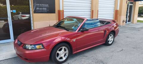 2004 Ford Mustang for sale at Cad Auto Sales Inc in Miami FL