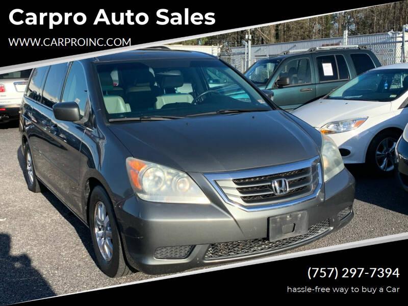 2008 Honda Odyssey for sale at Carpro Auto Sales in Chesapeake VA