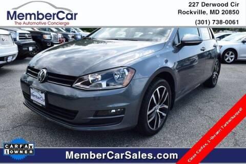 2016 Volkswagen Golf for sale at MemberCar in Rockville MD