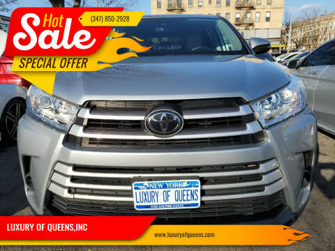 2018 Toyota Highlander for sale at LUXURY OF QUEENS,INC in Long Island City NY