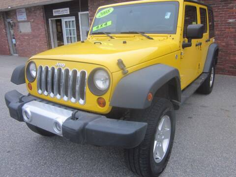 2008 Jeep Wrangler Unlimited for sale at Tewksbury Used Cars in Tewksbury MA