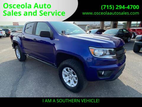 2016 Chevrolet Colorado for sale at Osceola Auto Sales and Service in Osceola WI