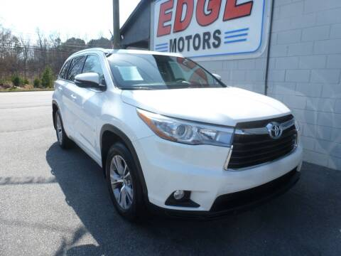 2015 Toyota Highlander for sale at Edge Motors in Mooresville NC
