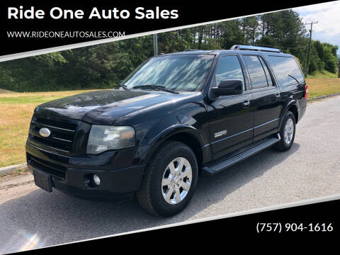 2008 Ford Expedition EL for sale at Ride One Auto Sales in Norfolk VA