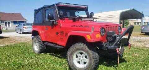 2005 Jeep Wrangler for sale at Sinclair Auto Inc. in Pendleton IN