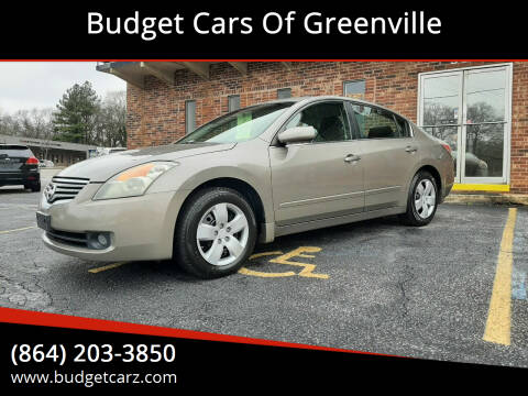 2008 Nissan Altima for sale at Budget Cars Of Greenville in Greenville SC