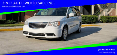 2015 Chrysler Town and Country for sale at K & O AUTO WHOLESALE INC in Jacksonville FL