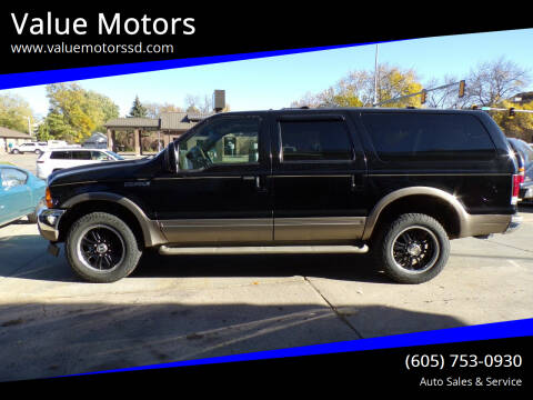 2001 Ford Excursion for sale at Value Motors in Watertown SD